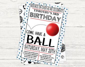 Birthday Ball Digital Invitation
