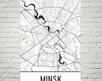 Minsk Map, Minsk Art, Minsk Print, Minsk Belarus Poster, Minsk Wall Art, Minsk Poster, Minsk Gift, Minsk Decor, Minsk Map Art, Art Print