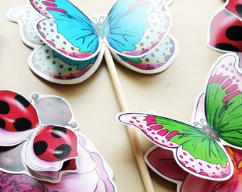 SPRING Cupcake Toppers to DIY