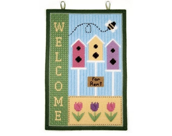 PATTERN: Spring Welcome Wall Hanging in Plastic Canvas