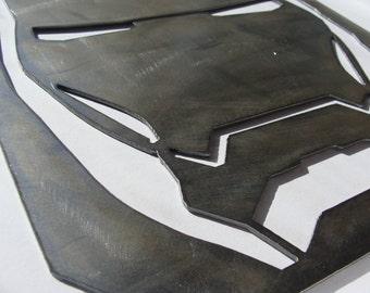 Iron Man Helmet Metal Sign