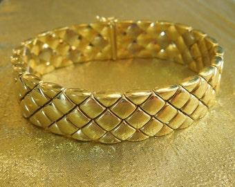 18K Italian Yellow Gold Omega Watch Company Bracelet
