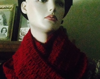 Scarves, infinity scarves, infinity scarf, crochet, red, accessories, women's accessories