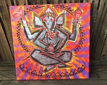 "Ganesh Abstract - 12"" x 12"" painting"