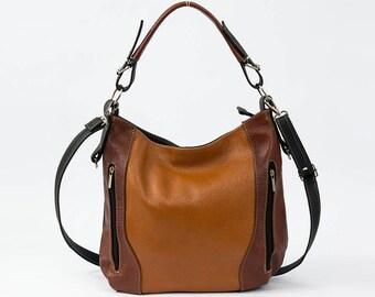 LEATHER HOBO Bag, SHOULDER Bag, Leather Purse, Brown Women's Handbag, Leather Handbag, Everyday Crossbody, Leather Bag, Leather Laptop Bag