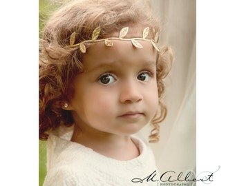 Gold leafs headband, silver leafs headband, leaves headband, halo leaves headband, newborn photo prop, hippie style headband, fall headband