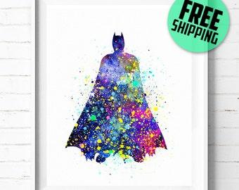 Batman print, Superhero print, Batman poster, DC Comic print, Superhero poster, Batman abstract, Batman art print, wall art, kids Decor, 13