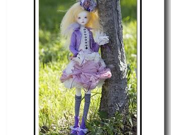 Alice PDF clothes pattern for MSD slim dolls