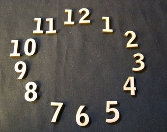 "Wood Clock Numbers Set  3/4"" Inch Laser Cut"