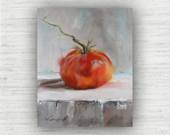 Vegetable Painting Print of Still Life Oil Painting Home Decor Wall Art - Unique Kitchen Food Room Decor, Farmhouse Dining Room Art Print