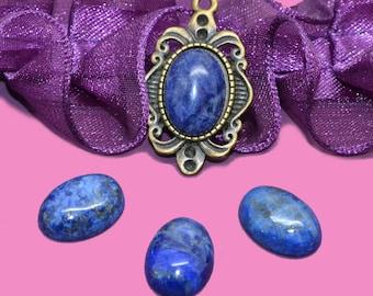 Cabochon gemstone 14 x 10 lapis lazuli