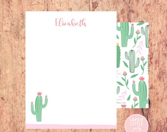 Cactus Stationery, Women's Stationery, Desert Theme Personalized Notecards, notecards, Girls Birthday Gift, Girls Gift - Lovely Little Party