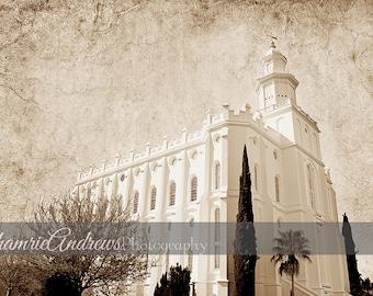 Saint george temple etsy st george utah lds temple landscape 2 antique instant digital download large temple print reheart Image collections