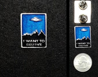 I want to believe Lapel Pin or Magnet