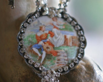 Book of Days - assemblage necklace