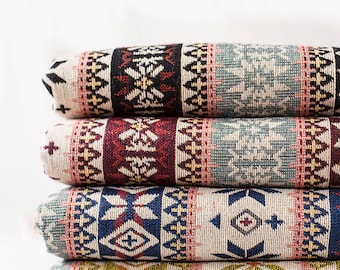 Bohemian Fabric, BOHO Style Upholstery fabric, Heavy weight, 4 colors available - 1/2 yard