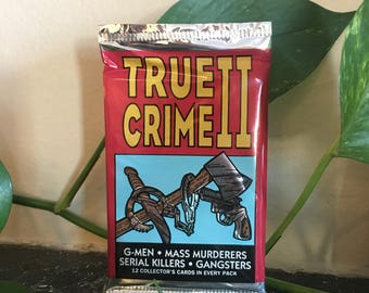 True Crime Trading Cards from 1992 - Sealed