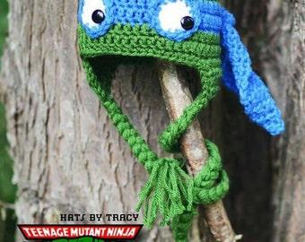 TMNT, Teenage Mutant Ninja Turtle Crochet Hats, Leonardo, Donatello, Raphael, Michelangelo