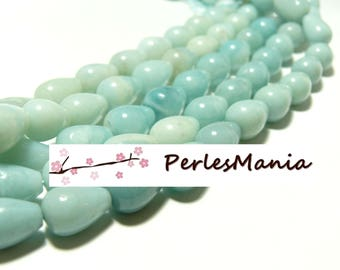 4 drops 8 MM by 12mm amazonite stone beads