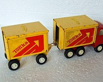 Vintage Tonka Tandem Truck  55013,  55321.Wagon and Drag