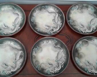 Japan Plates - Handpainted Set of 6