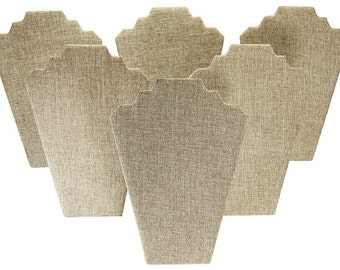 "Burlap Necklace Easel 8-1/4"" wide x 12"" high (Pack of 6)  (DCH3601)"
