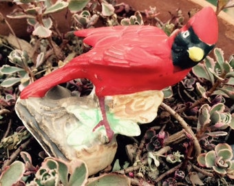 Sale! Vintage Enesco Red Cardinal, Bird Figurine, Japan