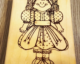Jenny Girl Rubber Stamp from D.O.T.S