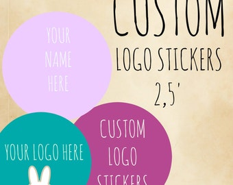 """Personalized labels 2.5""""  circle ,product labels,2,5 rounded custom labels,candle labels,vintage labels,product labels,custom stickers"""