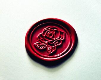 Beautiful rose wax seal stamp flower wax sealing  wedding invitation wax seals