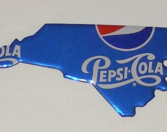 North Carolina (NC) Shaped Magnet - Pepsi