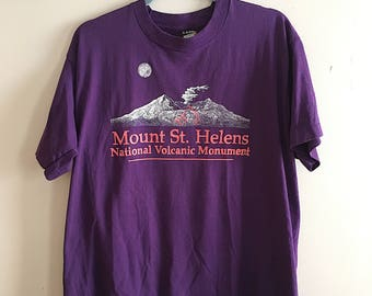 90s Mount St. Helens Volcano Graphic T-Shirt