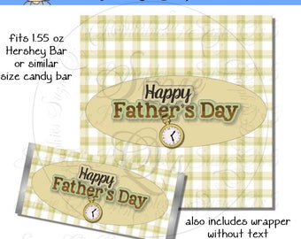 Father's Day Candy Bar Wrapper - Digital Printable - Immediate Download