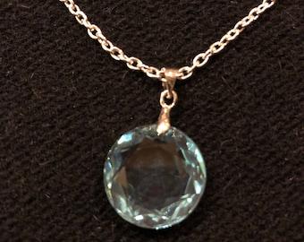 Light Blue Glass Pendant