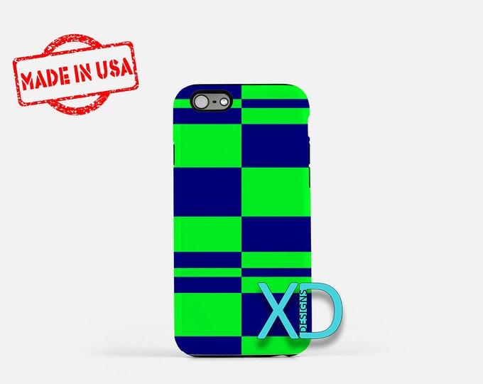 Lattice iPhone Case, Blue and Green iPhone Case, Lattice iPhone 8 Case, iPhone 6s Case, iPhone 7 Case, Phone Case, iPhone X Case, SE Case