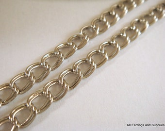 5ft Nickel Double Chain 6x5mm Plated Iron Not Soldered - 5 ft - STR9022CH-N5