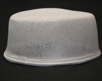 Low cap Buckram form, millinery bucherame, top of hat ready to use, hattery buckram form, form for making hat, raw fiber form for hat