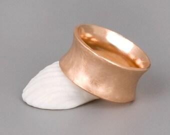 Rose Gold Band, Wide Rose Gold Band, Rose Gold Ring, Simple Ring Gold, Rose Gold Wedding Band, Delicate Ring, Wide Wedding Ring, Womens Ring
