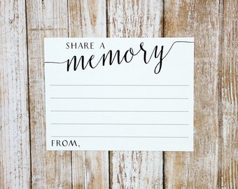 Share a memory Cards | Size 4.25 x 5.5 inch | Printed and Ready to Ship