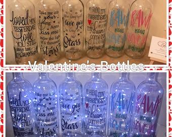 Valentine's Day light up Bottles