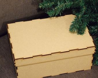 Christmas Eve Box, unpainted MDF,flat pack,