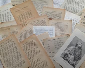 35 page pack of books , paper crafts, scrapbooking, collage, cutting, junk journal, ephemera, vintage, inspiration kit ....