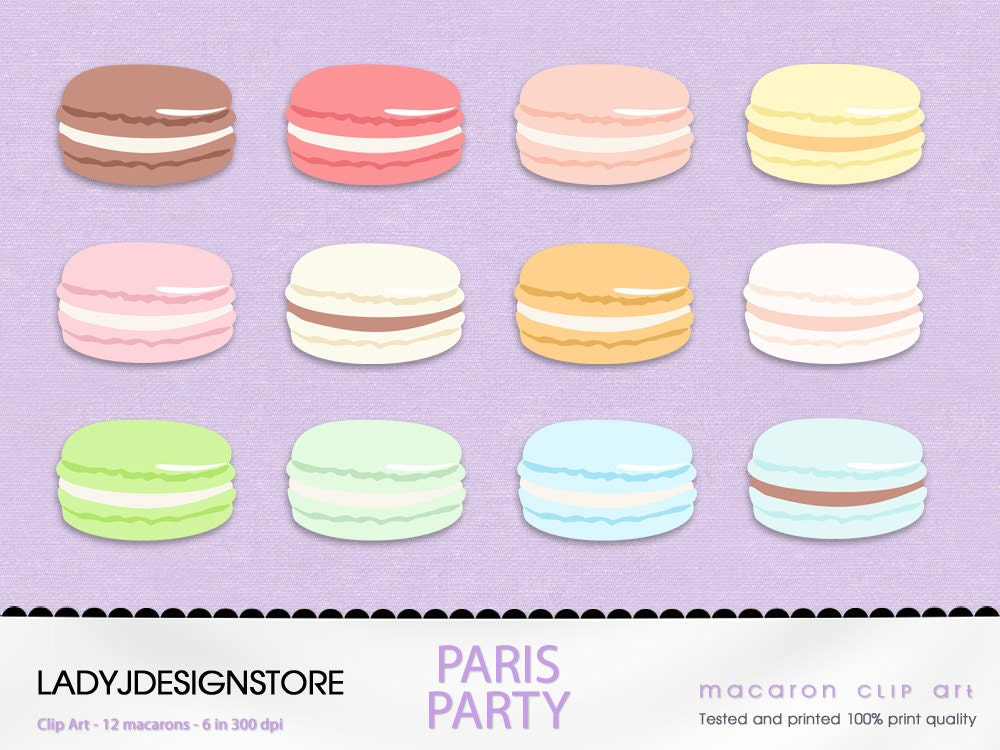 pastel macaron clip art 12 digital clipart sweet pastry rh etsy com Macaroon Vector Cartoon Macaroons