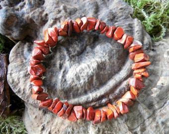 Bracelet, power bracelet, jewels, red Jasper, Chakra, Reiki, Waldorf