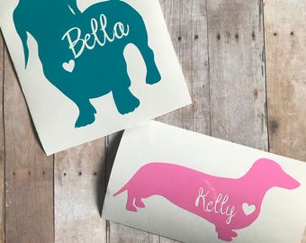 Personalized Dog Decal