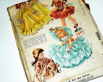 Doll Clothes 1956 Pattern/ 21-23 Inch Doll / McCalls 2084