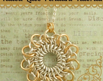 Tatted Lace Pendant Tutorial - Stunning Chainmaille Pendant - Expert PDF Instructions