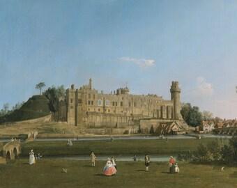Canaletto: Warwick Castle. Fine Art Print/Poster. (004113)