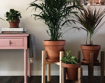 Mid Century Modern Plant Stand, Wooden Plant Stand, Plant Holder, Indoor Plant Stand, Plant Stand Wood, Modern Plant Stand, Modern Home
