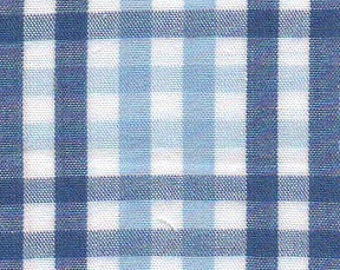Fabric Finders Royal and Light Blue Check Fabric - T88 - NEW!! - 1 Yard by 60 inches